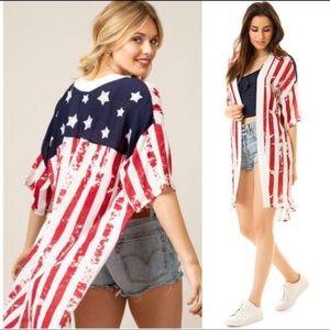 American Flag : Patriotic KIMONO 4th of July